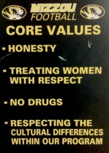 Mizzou Football Core Values