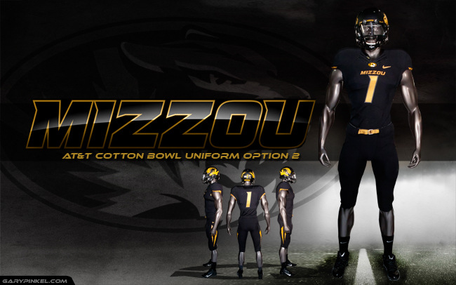 Mizzou Uniform Option 2 - AT&T Cotton Bowl
