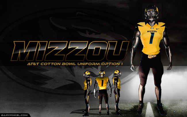 Mizzou Uniform Option 1 - AT&T Cotton Bowl