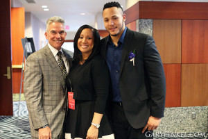 Mike Alden, Sebrina Johnson and Shane Ray