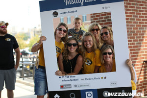 Mizzou Football Fans pose for a photo before the Tigers take on the SEMO Redhawks in The ZOU on Saturday, September 5, 2015 in Columbia, Mo.